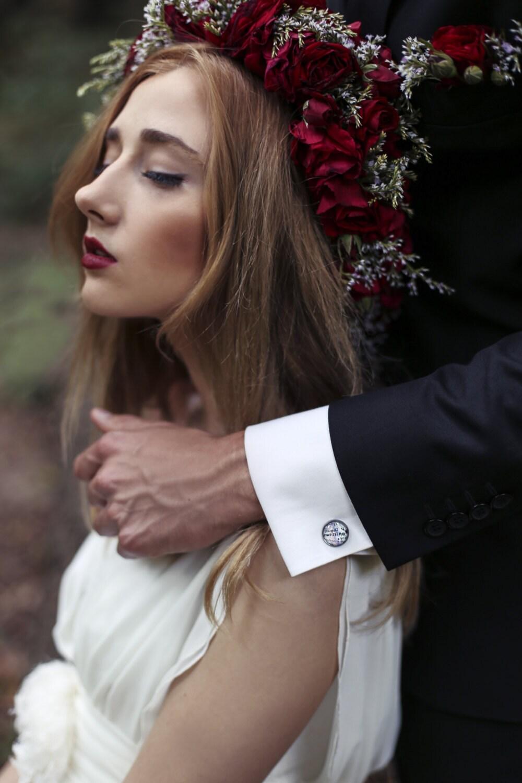 6 Sets Groomsmen Cufflinks Wedding Gift For Men Personalized