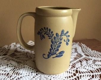 McCoy Pottery Bluefield  Pitcher * Replacements * Vintage Pitcher * Stoneware * Pottery