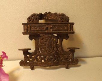 Cast iron ornate metal part. project.  metal decor. supplies for metal project.