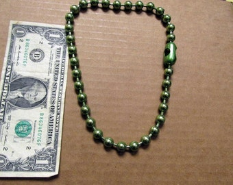 Retro Green Colored Large Metal Ball Necklace Choker 03
