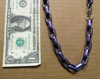 Retro Purple Colored Metal Link 18 Inch Necklace Choker 06