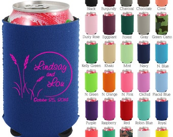 Custom Neoprene Can Coolers (1414) Bayou Setting - Beer Can Coolers - Personalized Can Cooler - Wedding Favors