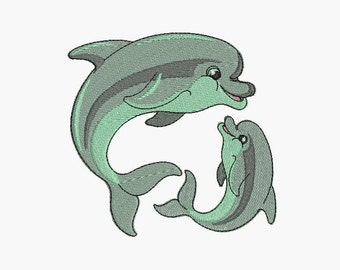 Instant download Machine  Embroidery design Dolphins