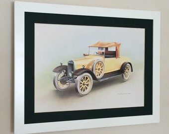 """Framed and Mounted Clyno, 1927 Print - Christine Noad - 1983 - 16"""" x 12"""""""