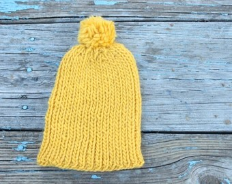Gold stretchy beanie