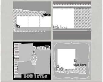 Patti'licious 12x12 Digital Scrapbooking Templates