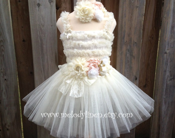Child Kid Flower Crown Princess Sofia Lace Cotton Layered Skirt Dress 2-6Y USPS