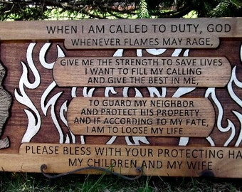 Firefighter prayer / short version (12x27)