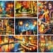 "Surprise Painting — ORIGINAL Oil Painting By Leonid Afremov - Size: up to 40"" x 30"" The Price Only With Promotion Buy Two Get One Free!"