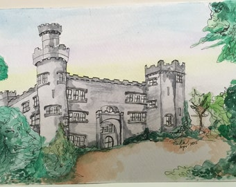 Watercolour drawing - Castle series