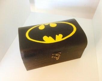 Batman inspired treasure chest box
