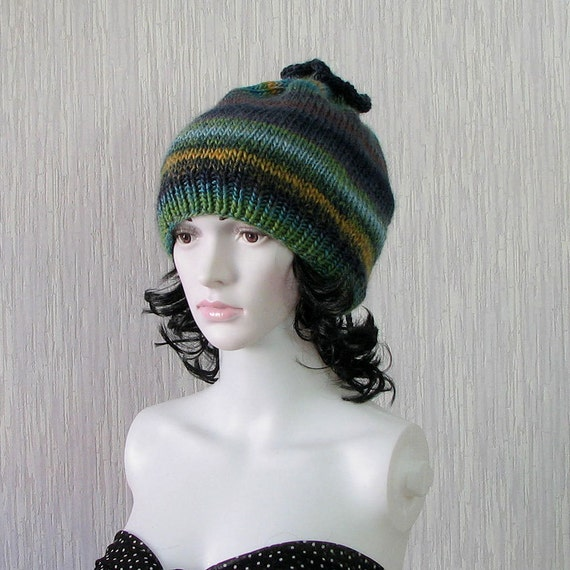 Hand Knit Ladies Slouchy Hipster Beanie Baggy Tam by ...