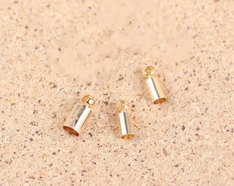End Caps -90pcs antique gold End Cap Clasp Clips Wholesale Jewelry Findings 2mm