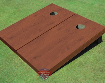 Custom Corn Hole Vermont Stained Cornhole Boards