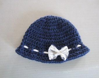 CROCHET Pattern - Little Lady Hat - 3 sizes