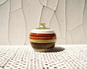 Vintage Dragon Pottery Rhayader Made in Wales Sugar Bowl/Jam Pot
