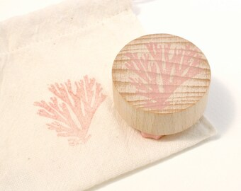 Seaweed - Seaweed Stamp - Seaside - Seaside Theme Stamp - Sea - Sea Weed - Hand Carved Rubber Stamp by The Little Stamp Store