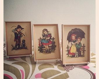 Sale* Retro vintage - Hilde prints. 1960's