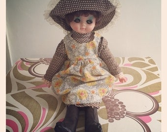 Reduced *Retro 1970's Holly Hobbie Style Doll