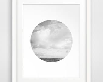 Cloud Photo, Cloud Poster, Landscape Poster, Beach Decor, Abstract Photo, Minimalist Poster, Digital Art, Downloadable Artwork
