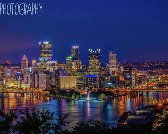 Pittsburgh from the West End Overlook (city, bridges, cityscape)