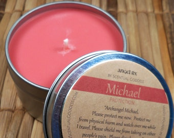 Archangel Michael Protection Candle - Call On Guardian Angel Michael To Feel More Protected, to Remove Fear and Worry, or for Safe Travel