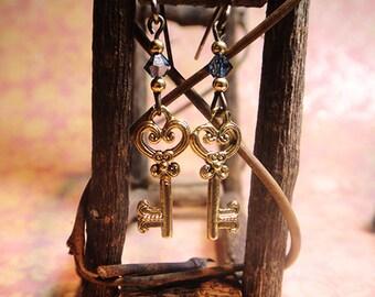 Golden Key Earrings