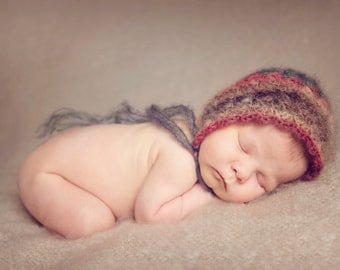 Newborn Bonnie Bonnet - Mohair photography prop crochet pattern