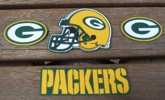 iron on or sew on transfer applique nfl green bay by. Black Bedroom Furniture Sets. Home Design Ideas
