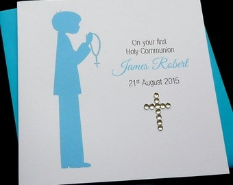 Personalised 1st Holy Communion / Confirmation  Handmade Card