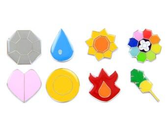 Pokemon Badges Gen 1 - Kanto (Clear, Iron)