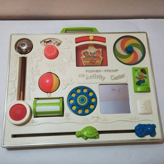 Fisher Price Crib Toys : Fisher price activity center s crib toy vintage nursery