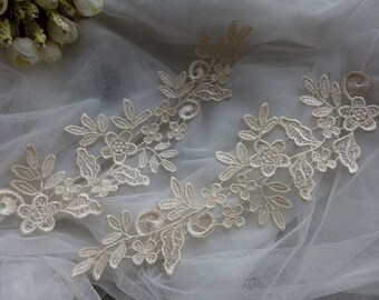 Bridal Lace Applique in Ivory Venice Lace For Weddings, Bridal Headpiece, Hair Flower