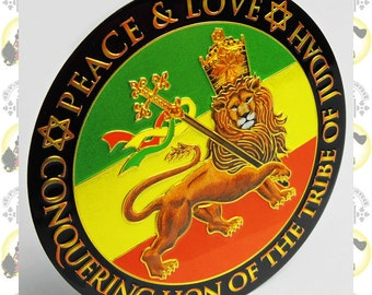 Metal Art Sticker - Lion Of Judah