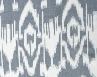 COTTON FABRIC DESIGN 7 -  Grey Ikat Design
