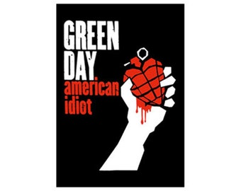 Green Day - American Idiot - Official Fabric Poster Flag - Free Shipping