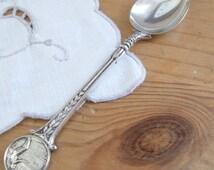 Vintage silver plate teaspoon ladies diving medal award or presentation spoon given in 1947