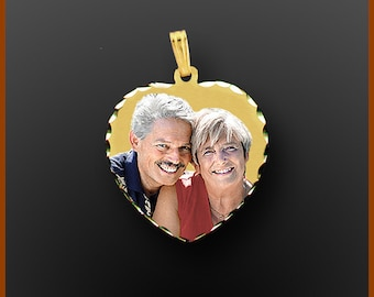 Gold Photo Charm,Gold Photo Necklace,Photo Engraved Jewelry,Photo Engraved Necklace,Engraved Photo Necklaces,Photo Pendant,Picture Pendant