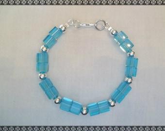 blue bracelet, light blue bracelet, aqua bracelet, aqua blue, aqua