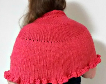 Half Circular Shawl Pattern, knitting - Sunset Shawl Pattern, Instant Digitial Download