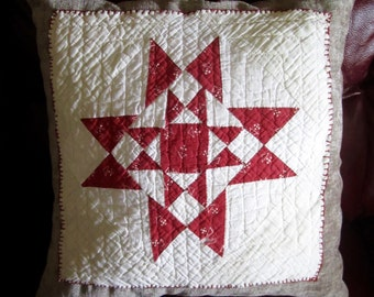 Antique Quilt Square Pillow