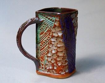 Hand-built Stoneware Dogwood Mug