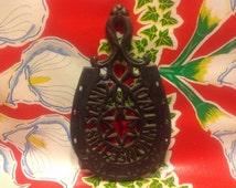 Vintage Wilton cast iron lucky horseshoe trivet- Good Luck to all...