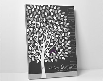Wedding Tree Guest Book // Wedding Guest Book Tree // Personalized Wedding Print //  55-300 Signatures // Canvas or Flat Print