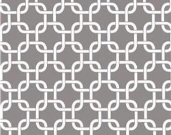 Grey Lattice Chain Indoor Pillow Cover with Hidden Zipper