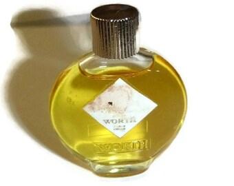Vintage WORTH Mini Perfume Bottle Je Reviens Miniature Designer Fragrance Collectible French Couture Eau de Parfum Paris France Nearly Full