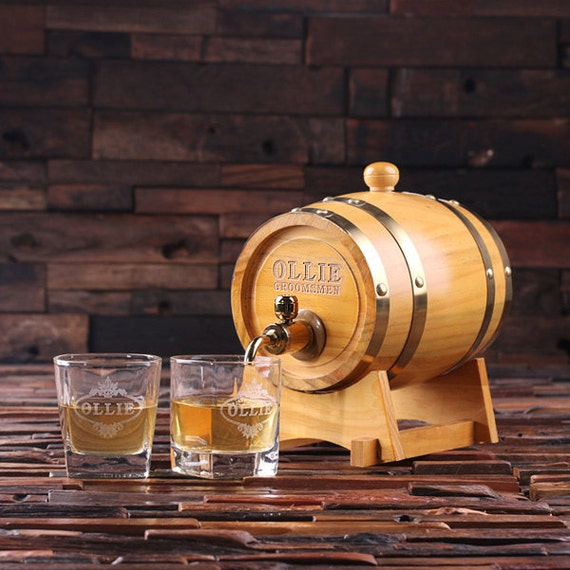 Small Gifts For Man Cave : L personalized whiskey barrel unique groomsmen men s