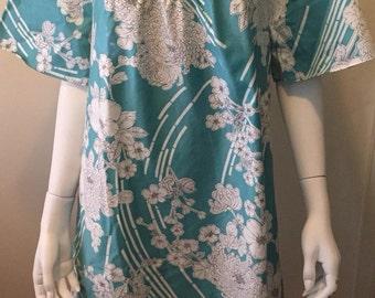 Summer breeze Hawaiian print tent dress one size love