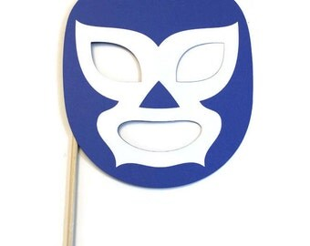 Photo Booth Props -  Wrestler Mask- Mexico Themed Prop - Pick your Mask Color