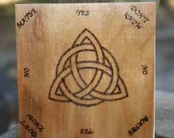 Small wood Triquetra Pendulum board